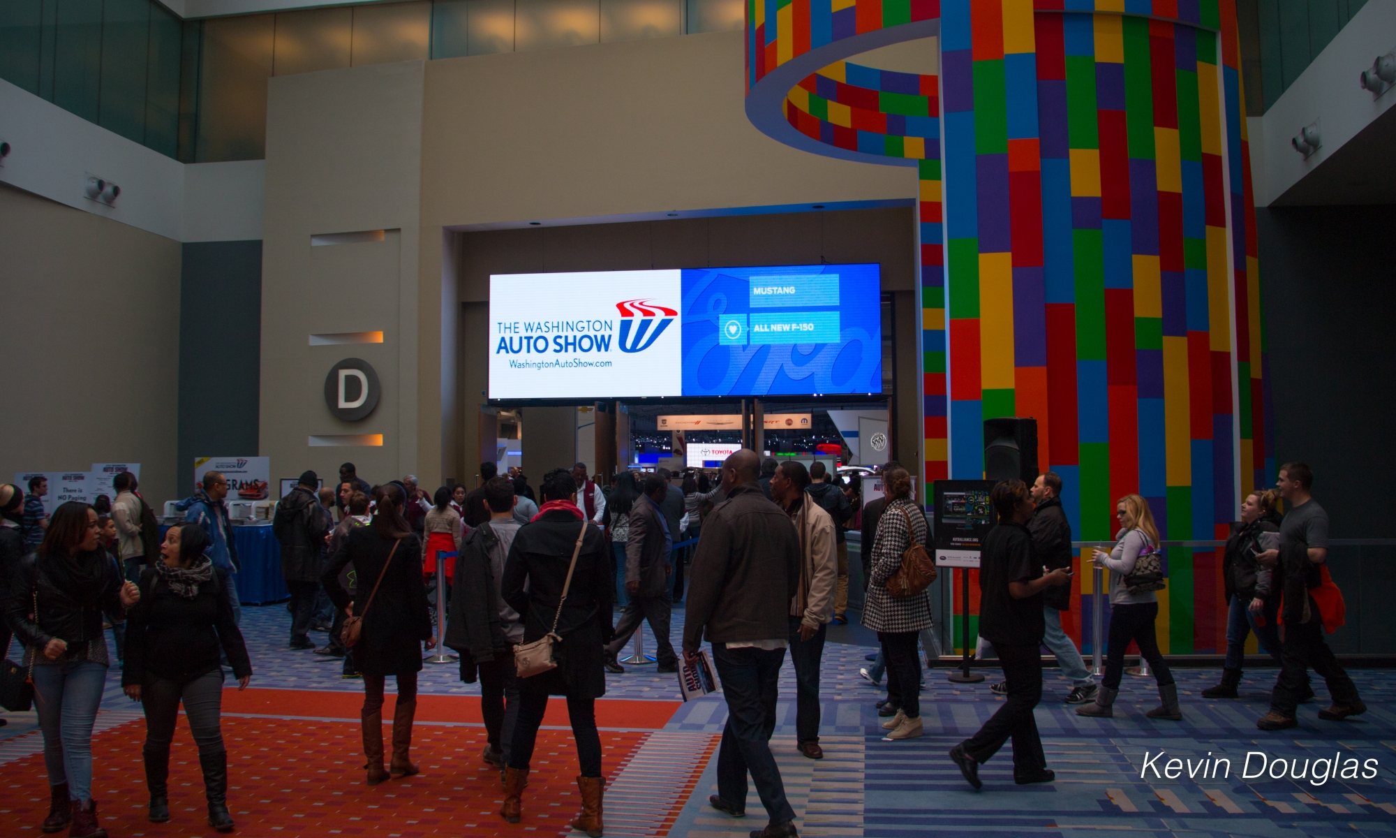 Washington Auto Show Entrance