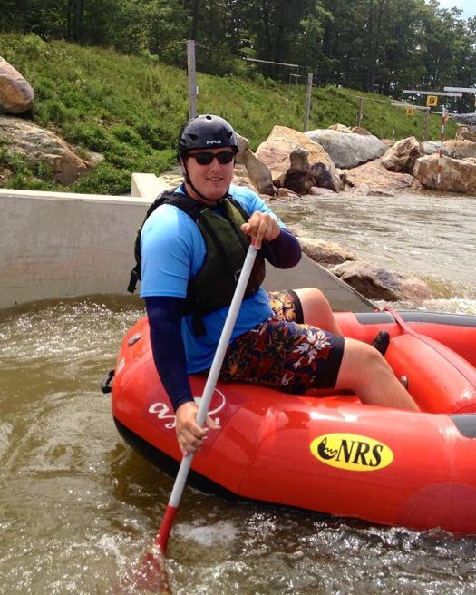Kevin Douglas working as a Raft Guide at Adventure Sports Center International