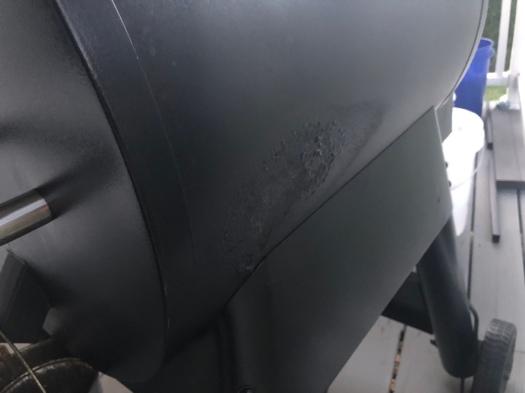 Heat damage on barrel of Traeger Renegade Pro