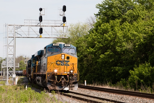 CSX Freight Train leaving Brunswick MD