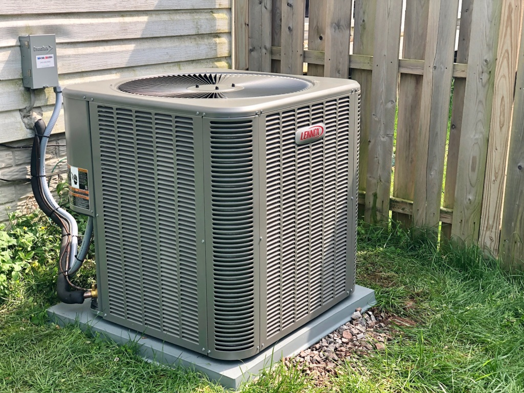 Lennox 14 Seer Air Condensor installed.