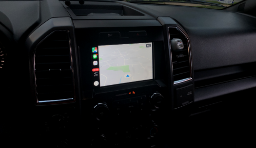 CarPlay Google Maps screen