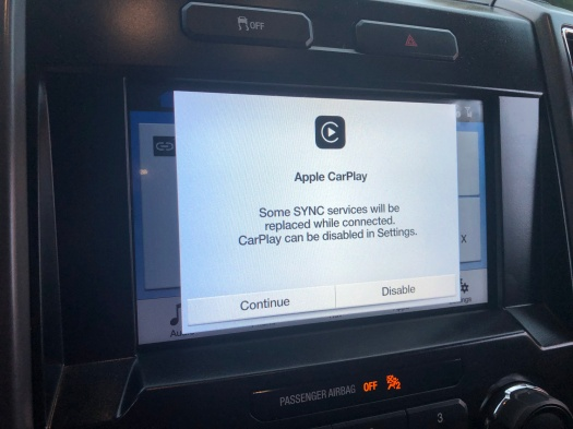 CarPlay Prompt Screen