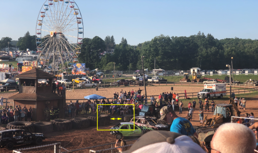 Gaps in tires during the race at the Garrett County Fair