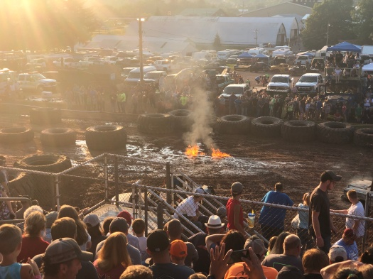Controlled burn of Alcohol Fuel at the Garrett County Fair