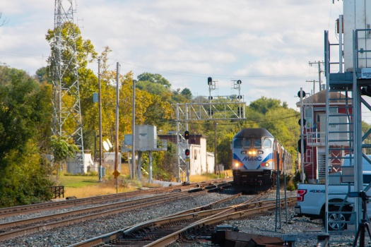 MARC Train Locomotive in Brunswick Maryland